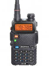 Рация BaoFeng UV-5R VOX черная, FM, акб, 2хдиапазонная, фонарик, дисплей, до 10км Купить