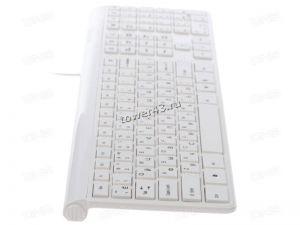 Клавиатура Oklick 500M тонкая, белая, кабель 1,5м Купить