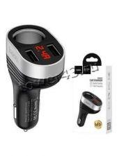 Автомобильное зарядное устройство HOCO 2 выхода USB 3.1A с дисплеем (цвет в ассортименте) Retail Купить