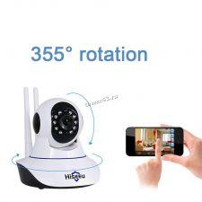 IP камера Hiseeu Smart WiFi 1080р поворотная, детек.движ, голос.связь, ночн видение, скрытый microSD Купить