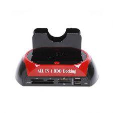 Док-станция CHIPAL для 2.5,3.5 HDD/SSD IDE+SATA +картридер, USB2.0 с адаптером питания Купить
