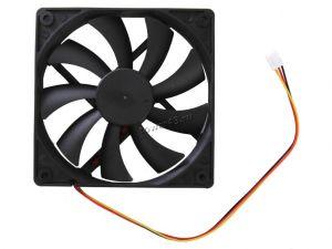 Вентилятор 120x120х15, 3пин, black, 25dB, 1500rpm Купить