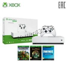 Игровая консоль XBOX One S All-Digital Edition 1Tb +Minecraft, SOT, Fortnite Купить
