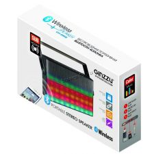 Мобильная колонка-плеер Ginzzu GM-896B Bluetooth /USB /MicroSD /FM-радио /Aux 6Вт, цветомузыка Цена