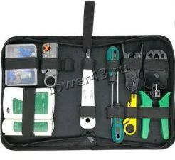 Набор иструментов для работы с сетевыми кабелями RJ45 RJ12 (12 предметов) в сумке Купить