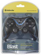 Геймпад Defender Blast, USB /PS2/PS3, блютуз, беспроводной, 12кнопок, АКБ Цена
