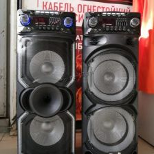 "Комбо-бокс колонка Eltronic 2x10"" EL-1015/1020 USB/SD/FM /дисп. /LED /Bluetooth /Mic /пульт /запись Купить"