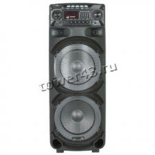"Комбо-бокс колонка Eltronic 2x10"" EL-1015/1020 USB/SD/FM /дисп. /LED /Bluetooth /Mic /пульт /запись Цена"