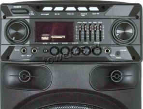 "Комбо-бокс колонка Eltronic 2x10"" EL-1015/1020 USB/SD/FM /дисп. /LED /Bluetooth /Mic /пульт /запись Цены"