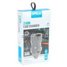 Автомобильное зарядное устройство 2 выхода USB (3.4A) iPlus I-CAR 120 черный, в коробке Купить