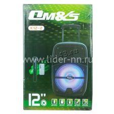 "Комбо-бокс колонка 12"" K12-2ch OM&S USB/SD/FM/блютуз /дисплей /беспр.микр /пульт /подсветка Цены"