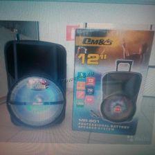 "Комбо-бокс колонка 12"" MR-901 OM&S USB/SD/FM/блютуз /дисплей /беспр.микр /пульт /подсветка Цены"