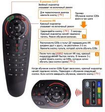 Пульт с гироскопом (аэромышь) G30S для Smart TV, тв-приставок, андроид и windows устройств. 33пр.кн Купить