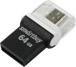 Переносной носитель 64Gb FLASH USB2.0 +microUSB (OTG) Купить