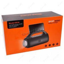 Мобильная колонка-плеер E816 Bluetooth /USB /MicroSD /FM /фонарь /подставка для телеф . Цена