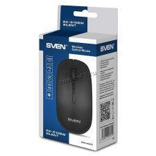 Мышь SVEN RX-510SW беспроводная 800-1200dpi, бесшумная, USB, черная, 1хАА в комплекте Цена