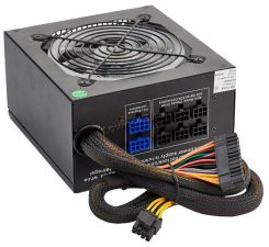 Блок питания EXEGATE 600W ATX-EVO600 12cm fan, RGB-подсветка, APFS, отстег.кабели, +12V -40A, черный Купить