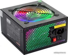Блок питания EXEGATE 600W ATX-EVO600 12cm fan, RGB-подсветка, APFS, отстег.кабели, +12V -40A, черный Цена