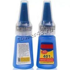 Клей 401 суперклей мгновенной фиксации, 20гр, прозрачный, защита от детей Купить