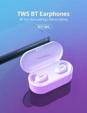 Наушники+микрофон вкладыши QCY TWS-QS2, с зар.боксом увел.емкос. с крышкой, беспроводные, цвет в асс Купить