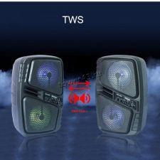 """Комбо-бокс колонка 2х6"""" ZQS-6205W /6206 /6207/6208 USB /SD /FM /TWS /подсветка /пров.микроф /пульт Сколько стоит"""