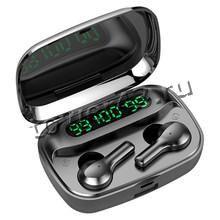 Наушники+микрофон вкладыши R3 TWS, BT5.0, зарядный бокс с 3 LED дисплеями, беспроводные Купить