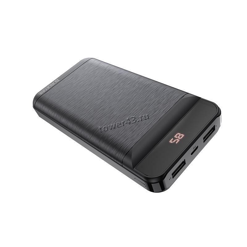 Внешний мобильный аккумулятор BOROFONE BT29 10000mAh, дисплей с цифр.индикацией, цвет в ассортименте