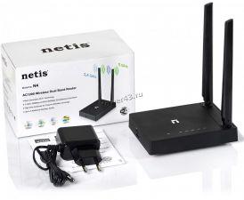 Маршрутизатор (роутер) беспроводной NETIS N4 2.4 ГГц, 5 ГГц, AC1200, 2 порта 10/100Base-TX, черный Цена