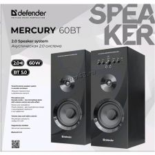 Колонки Defender MERCURY 60BT HiFi 2x30W RMS, блютуз 5.0, дерево, караоке, черные Цена