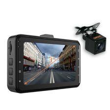 Автомобильный видеорегистратор КАРКАМ F3 (Full HD, матрица GС2023, 140°, G-сенсор) 2камеры, парковка Купить