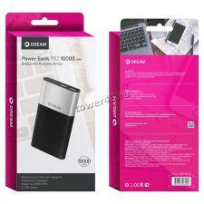 Внешний мобильный аккумулятор DREAM DRM-PB2-03 10000mAh 2хUSB 2A черн-сереб Купить