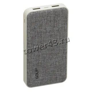 Внешний мобильный аккумулятор GOLF G31/39, Li-pol, 2хUSB, 10000mAh, 2.1A