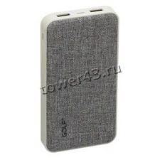 Внешний мобильный аккумулятор GOLF G31/39, Li-pol, 2хUSB, 10000mAh, 2.1A Купить