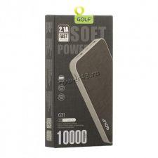 Внешний мобильный аккумулятор GOLF G31/39, Li-pol, 2хUSB, 10000mAh, 2.1A (цвет в ассортименте) Цена