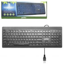 Клавиатура PERFEO (PF-843) Backlight подсв. кнопок черная, USB, мультимедиа Цена