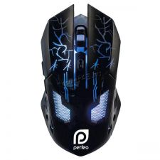 Мышь PERFEO PF-1712-GM QUEST подсветка 1200 /1600 /2400 /3200dpi Купить