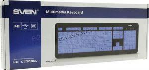 Клавиатура Sven Comfort 7300EL, USB с подсветкой Цена