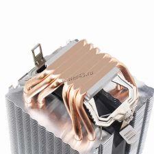 Вентилятор Kllisre (all Socket), до 200Вт, 6тепл.трубок, 2 вентилятора, 800-2200об, PWM, 4пин Цена