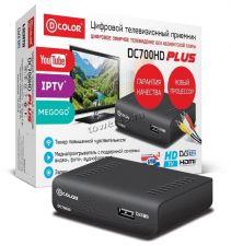 Цифровой ТВ-ресивер DVB-T2 D-Color DC700HD PLUS HDMI, 2хUSB, поддержка IPTV, megogo, youtube Купить
