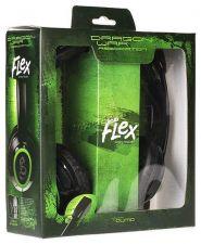 Наушники+Микрофон Qumo Flex GHS 0003 черно-зеленые,игровые Цена