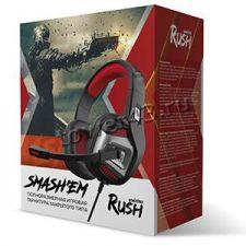 Наушники+Микрофон SmartBuy RUSH SMASH'EM (черный/синий) игровые Купить