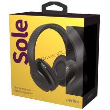 Наушники+микрофон полноразмерные Perfeo SOLE, MP3 плеер, AUX, до10ч, складные, черные Цена