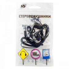 Наушники VS001 владыши, черные, шнур 1.2м Купить