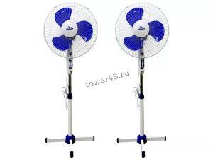 Вентилятор Добрыня DO-5101G 40 Вт, 3 скорости вращения, подсветка, шнур 1.8м,высота до 1.2м, решетка Купить