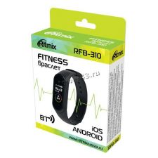 Смарт браслет Ritmix RFB-310 часы,будильник, шагомер, пульсометр, блютуз, счет калорий, таймер сна Цена