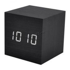 Настольные часы-будильник-термометр-календарь VST-869-6 белые буквы (черный корпус) Купить