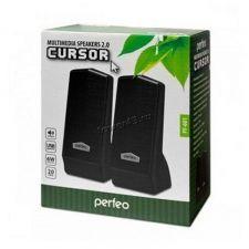 Колонки Perfeo Cursor, USB 2х3Вт черные PF-4879 USB Цена