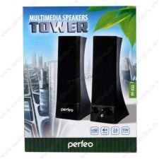 Колонки Perfeo Tower, USB 2х3Вт черные PF-532 USB Цена