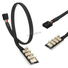 Разветвитель питания для системных блоков 4pin  -> 5х4pin, для подключения вентиляторов (плата) Купить