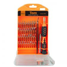 Отвертки для ремонта мелкой техники Perfeo TOM (набор 39 предметов) Цена